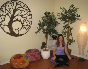 Getting ready for my meditation workshop at Planet Botanix